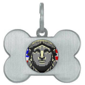 Liberty Head Over Flag Pet Tags