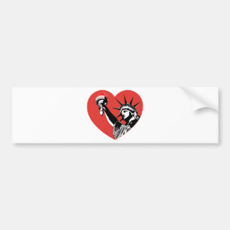 Liberty  Heart Bumper Sticker