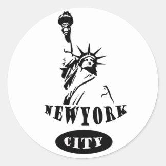 Liberty In new york city Classic Round Sticker