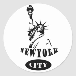 Liberty In new york city Round Sticker