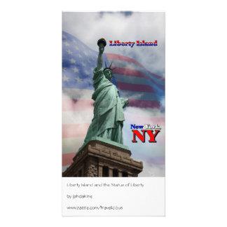Liberty Island - New York, NY Custom Photo Card