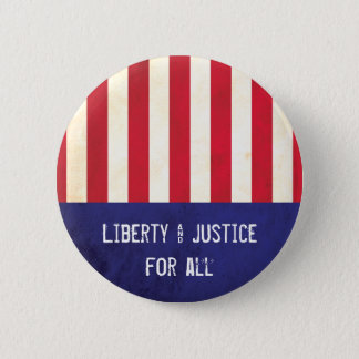 Liberty & Justice American Flag Political 6 Cm Round Badge