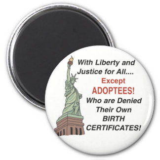 Liberty & Justice 6 Cm Round Magnet