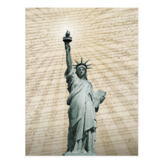 Liberty Loves The Constitution Postcard