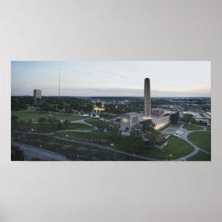 Liberty Memorial and BMA Building, Kansas City, Mi Poster