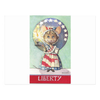 Liberty Mouse Postcard