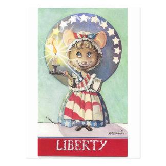 Liberty Mouse Postcard