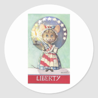 Liberty Mouse Round Sticker