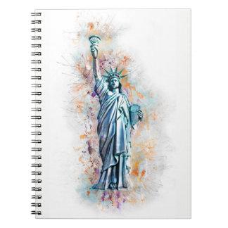Liberty, New York, Manhattan, the USA, America Notebooks