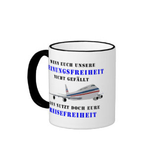 Liberty of opinion and democracy ringer mug