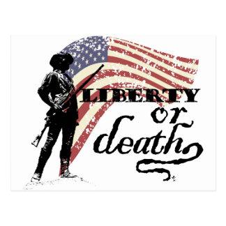 Liberty or Death Minutemen Postcard