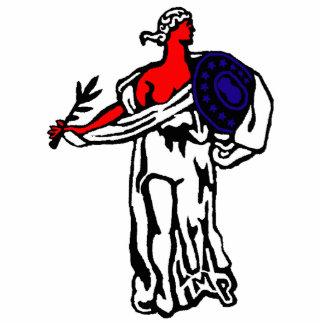 Liberty Pin Photo Sculpture Badge