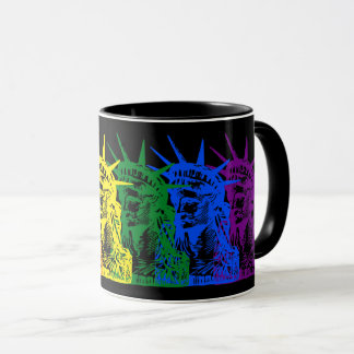 LIBERTY RAINBOW STATUE OF LIBERTY POP ART MUG