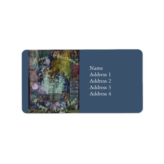 Liberty Reflection Christmas Label