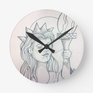 Liberty Round Clock