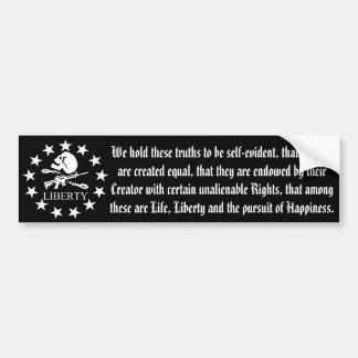 Liberty Skull and Cross Bones Bumper Sticker