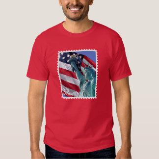 Liberty Stamp TShirt Statue Liberty American flag