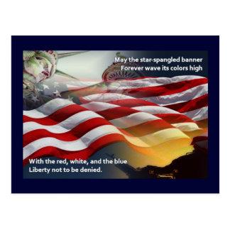 Liberty Star-Spangled Banner Postcard