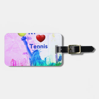 Liberty Statue loves tennis Luggage Tag