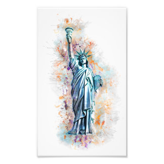 Liberty, Statue of Liberty, New York, Manhattan, Photo Print