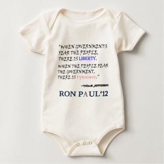 Liberty Tyranny Ron Paul 12.png Baby Bodysuit
