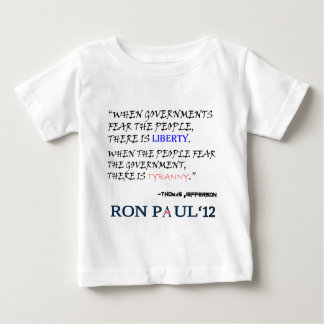 Liberty Tyranny Ron Paul 12.png Baby T-Shirt