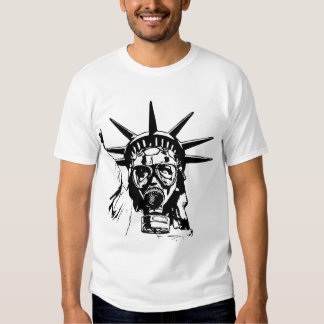 LIBERTY with Gas Mask T Shirts