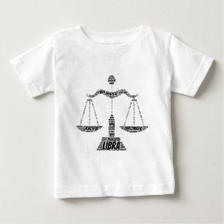 Libra Astrology Zodiac Sign Word Cloud Baby T-Shirt