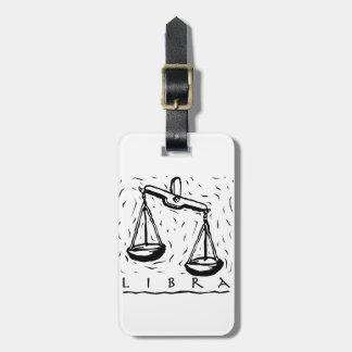 Libra Birthday Year Astrological Zodiac Sign Luggage Tag