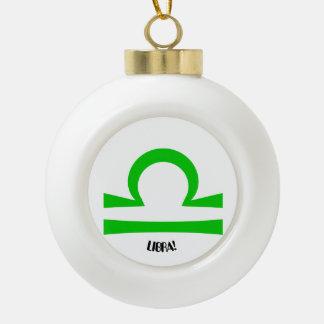 Libra Ceramic Ball Decoration
