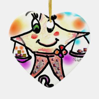 libra ceramic heart decoration