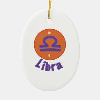Libra Ceramic Oval Decoration