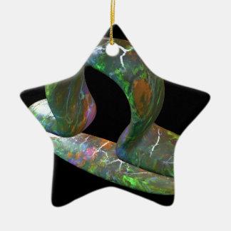 Libra Ceramic Star Decoration