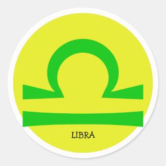 Libra Classic Round Sticker