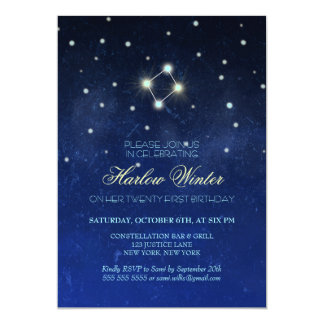 Libra Constellation Birthday Party Card