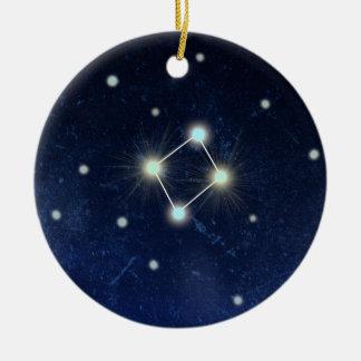 Libra Constellation | Custom Name Round Ceramic Decoration