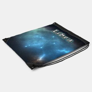 Libra constellation drawstring bag