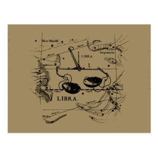 Libra Constellation Hevelius 1690 Sept23 - Oct22 Post Cards