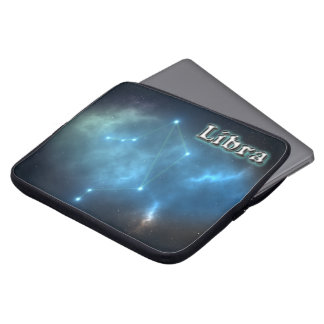 Libra constellation laptop sleeve