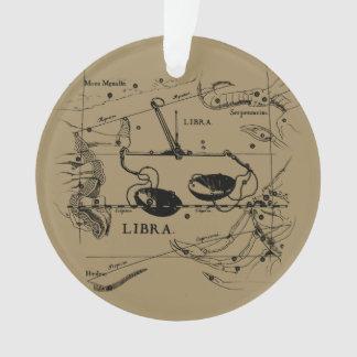 Libra Constellation Map Hevelius circa 1690 Ornament
