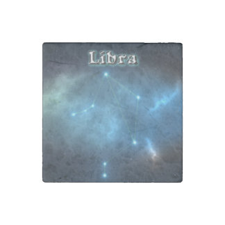 Libra constellation stone magnet