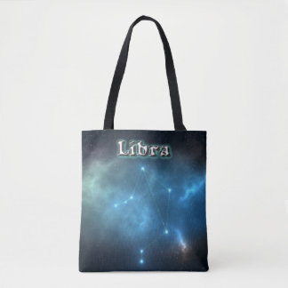 Libra constellation tote bag