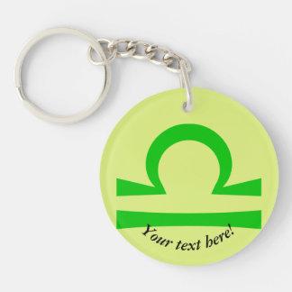 Libra Double-Sided Round Acrylic Key Ring