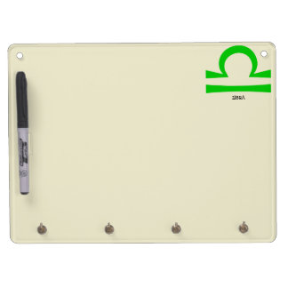 Libra Dry Erase Board With Key Ring Holder