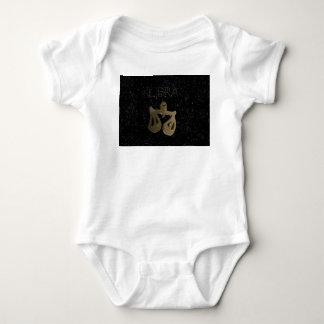 Libra golden sign baby bodysuit