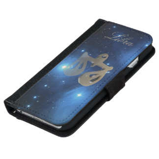 Libra golden sign iPhone 6 wallet case