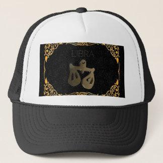 Libra golden sign trucker hat