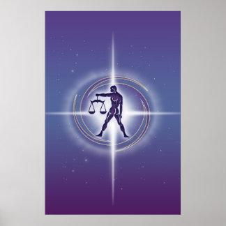 Libra Horoscope Lavender HLRX Poster