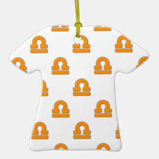 Libra Pattern Orange Ornament