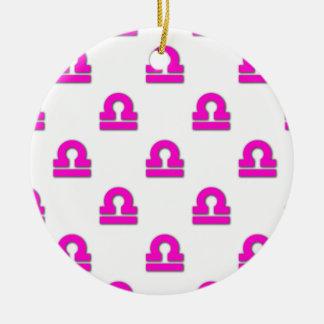 Libra Pattern Pink Ornaments
